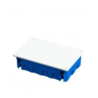 Коробка распределительная Промрукав для скрытой установки в гипсокартон 256х171х70 мм 14 вводов синяя IP20 с крышкой безгалогенная