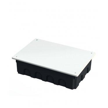 Коробка распределительная Промрукав для скрытой установки в бетон 256х171х70 мм 14 вводов черная IP20 с крышкой безгалогенная