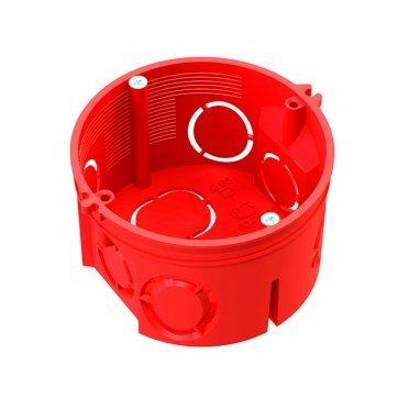 Подрозетник Промрукав для бетона d68х42 мм 7 вводов красный IP20 с саморезами безгалогенный