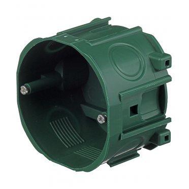 Подрозетник Schneider Electric для бетона d71х47 мм 5 вводов зеленый IP40 наборная