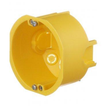 Подрозетник Schneider Electric для гипсокартона d68х47 мм 8 вводов желтый IP30 с металлическими лапками