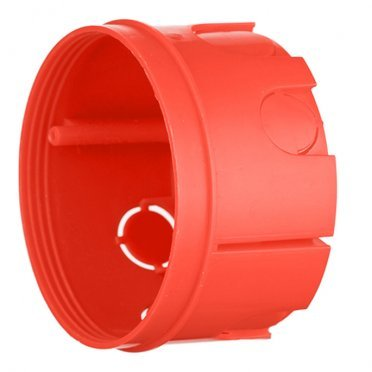 Подрозетник Промрукав для бетона d76х42 мм 7 вводов красный IP20 безгалогенный