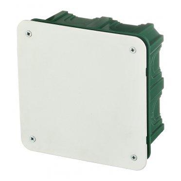 Коробка распределительная Schneider Electric для скрытой установки в бетон 112х112х51 мм 28 вводов зеленая IP30 с крышкой