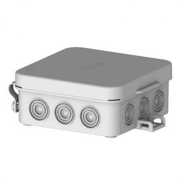 Коробка распределительная HEGEL для открытой установки 72х72х31 мм 12 вводов серая IP54 с замками