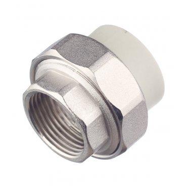 Муфта полипропиленовая FV-PLAST (236032) разъемная (американка) 32 мм х 1 ВР(г) серая