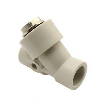 Фильтр полипропиленовый FV-PLAST косой 32 мм В/В сетчатый