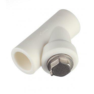 Фильтр полипропиленовый Valtec (VTp.786.0.025) косой 25 мм В/В сетчатый