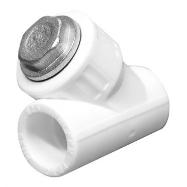 Фильтр полипропиленовый косой 20 мм В/В сетчатый