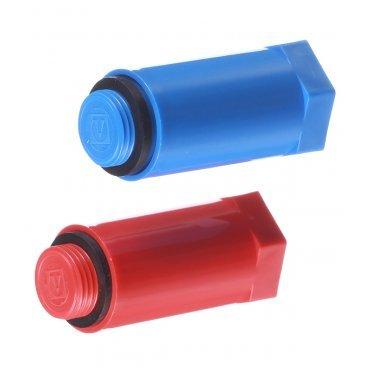 Заглушка полипропиленовая Valtec (VTp.792.M.04) 1/2 НР(ш) (2) красный/синий