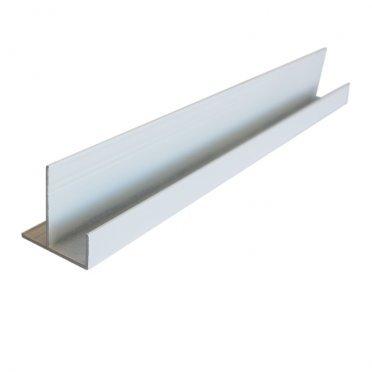 F-профиль (12 мм) алюминиевый 3м 1мм белый RAL 9010