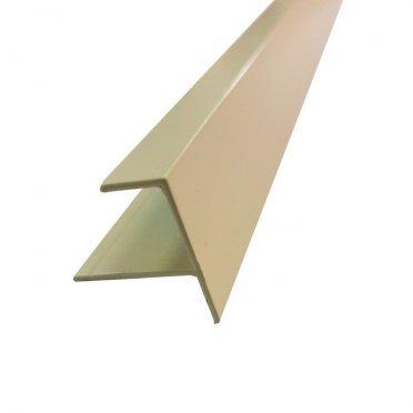 F-профиль (12 мм) алюминиевый 3м 1мм бежевый RAL 1013