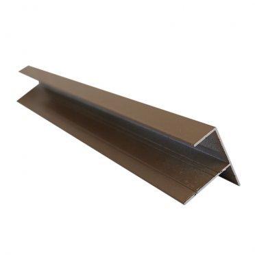 F-профиль (12 мм) алюминиевый 3м 1мм серо-бежевый RAL 1019