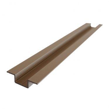 Омега-профиль алюминиевый 3м 1 мм серо-бежевый RAL 1019