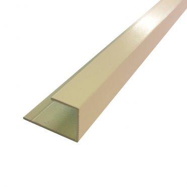 L-профиль (12 мм) алюминиевый 3м 1 мм бежевый RAL 1013