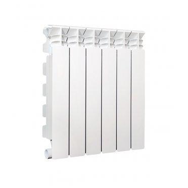 """Радиатор алюминиевый Fondital ARDENTE C2 500 мм 6 секций 1"""" боковое подключение белый"""