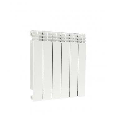 """Радиатор биметаллический Fondital ALUSTAL 500 мм 6 секций 1"""" боковое подключение белый"""