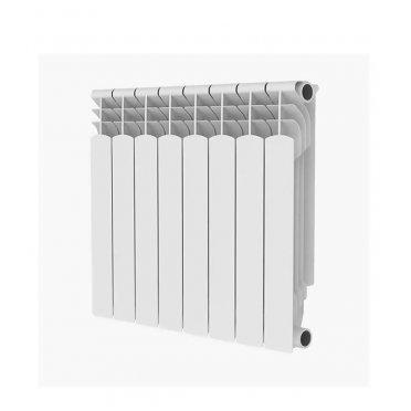 """Радиатор алюминиевый Royal Thermo MONOBLOCK 500 мм 8 секций 1"""" боковое подключение белый"""