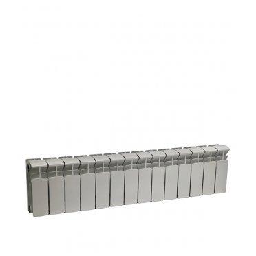 """Радиатор биметаллический Rifar Base 200 мм 14 секций 1"""" боковое подключение белый"""