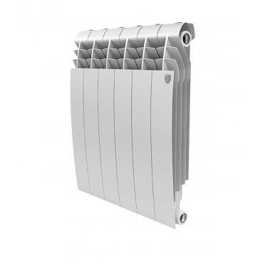 """Радиатор биметаллический Royal Thermo BiLiner Bianco Traffico 500 мм 6 секций 1"""" боковое подключение белый"""