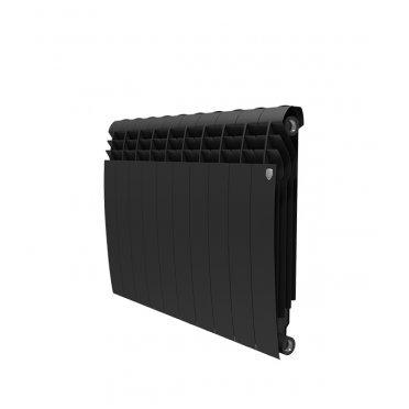 """Радиатор биметаллический Royal Thermo BiLiner Noir Sable 500 мм 10 секций 1"""" боковое подключение черный"""