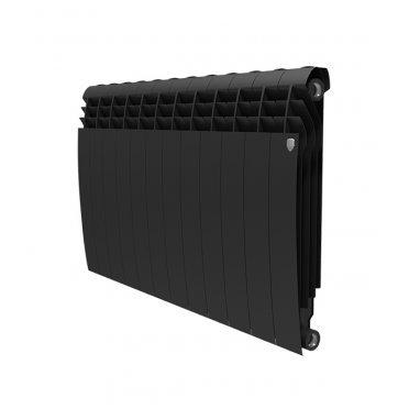"""Радиатор биметаллический Royal Thermo BiLiner Noir Sable 500 мм 12 секций 1"""" боковое подключение черный"""