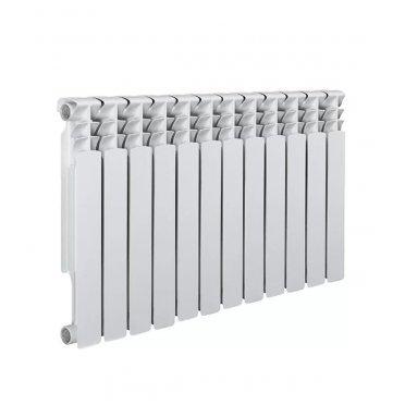 """Радиатор биметаллический Royal Thermo MONOBLOCK 500 мм 12 секций 1"""" боковое подключение белый"""