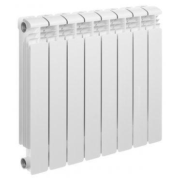 """Радиатор алюминиевый Rifar Alum 500 мм 8 секций 1"""" боковое подключение белый"""