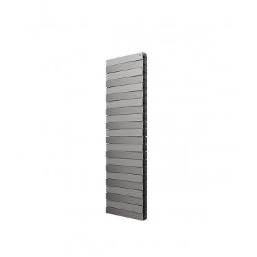 "Радиатор биметаллический Royal Thermo Piano Forte Tower 500 мм 22 секции 1"" нижнее подключение 1760х591 мм серый"