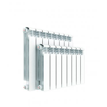 """Радиатор алюминиевый Rifar Alum 500 мм 10 секций 1"""" боковое подключение белый"""