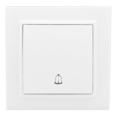 Кнопка звонка с рамкой EKF Минск ERV10-026-10 скрытая установка белая
