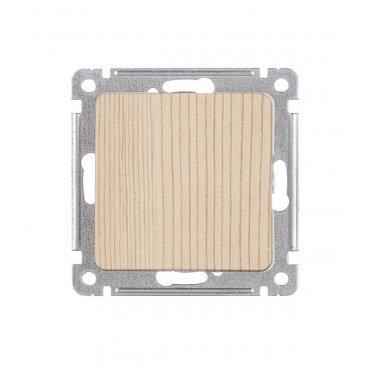 Выключатель HEGEL Master ВС10-411-02 одноклавишный скрытая установка сосна