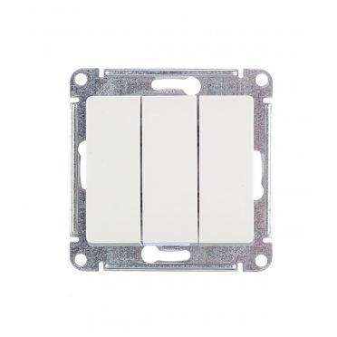 Выключатель Schneider Electric Glossa GSL000131 трехклавишный скрытая установка белый