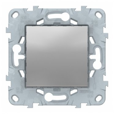Выключатель Schneider Electric Unica NEW NU520130 одноклавишный скрытая установка алюминий