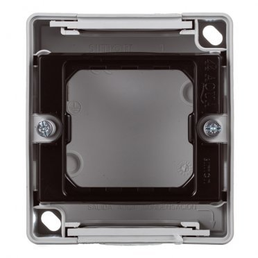 Основание под рамку Simon 44 Aqua 4400751-035 серое IP55 75х84х33 мм