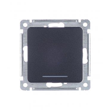 Выключатель HEGEL Master ВС10-432-08 одноклавишный скрытая установка черный с самовозвратом с подсветкой