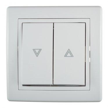Кнопка управления жалюзи с рамкой Aling-conel 6075.000 скрытая установка белая
