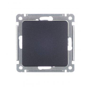 Выключатель HEGEL Master ВС10-411-08 одноклавишный скрытая установка черный