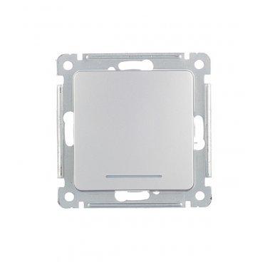 Выключатель HEGEL Master ВС10-412-06 одноклавишный скрытая установка серебро с подсветкой