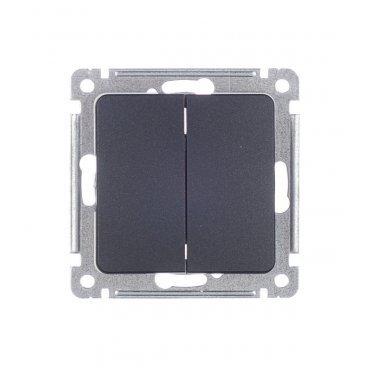 Выключатель HEGEL Master ВС10-451-08 двухклавишный скрытая установка черный