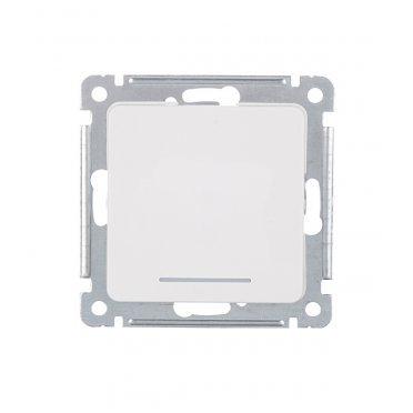 Переключатель HEGEL Master ВС10-462 одноклавишный на 2 направления скрытая установка белый с подсветкой