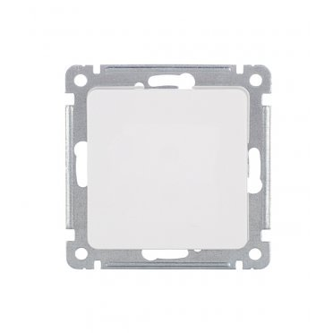 Переключатель HEGEL Master ВС10-471 одноклавишный перекрестный скрытая установка белый