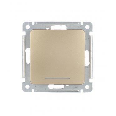 Выключатель HEGEL Master ВС10-432-07 одноклавишный скрытая установка золото с самовозвратом с подсветкой
