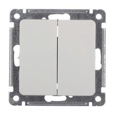 Выключатель HEGEL Master ВС10-451 двухклавишный скрытая установка белый