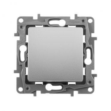 Переключатель Legrand Etika 672409 одноклавишный перекрестный скрытая установка алюминий