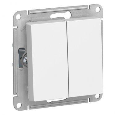 Переключатель Schneider Electric Atlas Design ATN000165 двухклавишный на 2 направления скрытая установка белый
