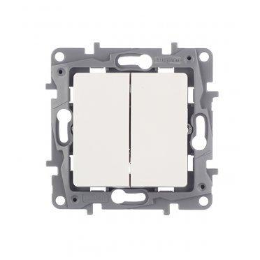Выключатель Legrand Etika 672202 двухклавишный скрытая установка белый