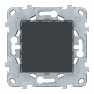 Заглушка Schneider Electric Unica NEW NU586654 скрытая установка антрацит 45x45 мм