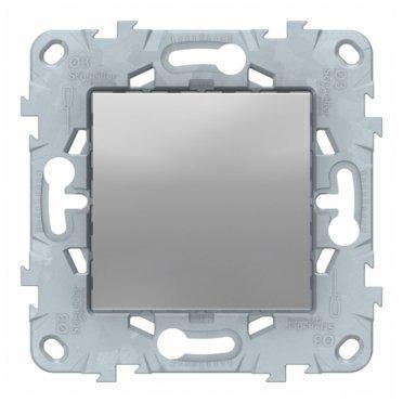 Заглушка Schneider Electric Unica NEW NU586630 скрытая установка алюминий 45x45 мм