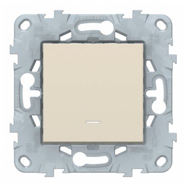 Переключатель Schneider Electric Unica NEW NU520544N одноклавишный перекрестный скрытая установка бежевый с подсветкой