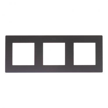 Рамка Simon 24 Harmonie 2400630-038 трехместная универсальная графит